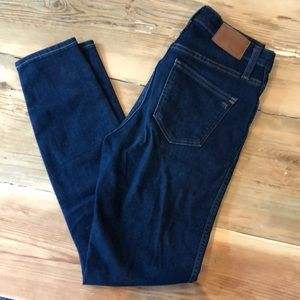 "Madewell 10"" Inch Rise Skinny Jeans in Hayes Wash"